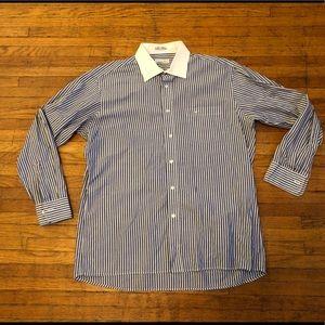 "Dior Men's Striped Dress Shirt 16"" 32/33"""